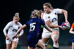 Poppy Cleall of England Women takes on Chloe Rollie of Scotland Women - Mandatory by-line: Robbie Stephenson/JMP - 16/03/2019 - RUGBY - Twickenham Stadium - London, England - England Women v Scotland Women - Women's Six Nations