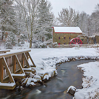 New England winter scenery at the historic Longfellow's Wayside Inn Sudbury Grist Mill in Sudbury, Massachusetts.<br /> <br /> New England country photography images of the Longfellow's Wayside Inn Sudbury Grist Mill are available as museum quality photo, canvas, acrylic, wood or metal prints. Wall art prints may be framed and matted to the individual liking and interior design decoration needs:<br /> <br /> https://juergen-roth.pixels.com/featured/longfellows-wayside-inn-sudbury-grist-mill-juergen-roth.html<br /> <br /> Good light and happy photo making!<br /> <br /> My best,<br /> <br /> Juergen
