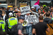 London, United Kingdom, June 27, 2021: Police are deployed in an attempt to disperse an anti-government musical rave in central London on Sunday, June 27, 2021. (VX Photo/ Vudi Xhymshiti)