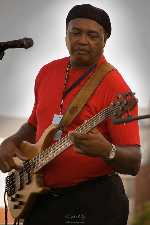 Bert Bourque of Donna Angelle & Zydeco Posse playing at the 2010 Riverfront Blues Festival in Wilmington