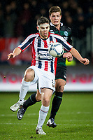 TILBURG, Willem II - FC Groningen, voetbal, Eredivisie seizoen 2015-2016, 26-01-2016, Koning Willem II Stadion, Willem II speler Dries Wuytens (L), FC Groningen speler Alexander Sorloth (R).