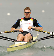 Munich, GERMANY, 2006, FISA, Rowing, World Cup, GER M1X, Marcel Hacker,,  on the Olympic Regatta Course, Munich, Fri. 26.05.2006. © Peter Spurrier/Intersport-images.com,  / Mobile +44 [0] 7973 819 551 / email images@intersport-images.com.[Mandatory Credit, Peter Spurier/ Intersport Images] Rowing Course, Olympic Regatta Rowing Course, Munich, GERMANY