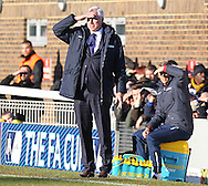 Crystal Palace Manager Alan Pardew looks on  during the The FA Cup Third Round match between Dover Athletic and Crystal Palace at Crabble Athletic Ground, Dover, United Kingdom on 4 January 2015. Photo by Phil Duncan.