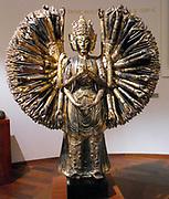 The thousand-armed bodhisattva Avalokitesvara Description: Avalokitesvara 'The lord who looks down. ' A major Bodhisattva in Mahayana Buddhism. Sculpture in wood. Chinese, Five Dynasties (907-960). Wood and gilt