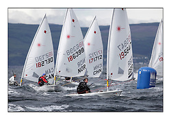 Rheanna Pavey, GBR 195847.Opening races in breezy conditions for the Laser Radial World Championships, taking place at Largs, Scotland GBR. ..118 Women from 35 different nations compete in the Olympic Women's Laser Radial fleet and 104 Men from 30 different nations. .All three 2008 Women's Laser Radial Olympic Medallists are competing. .The Laser Radial World Championships take place every year. This is the first time they have been held in Scotland and are part of the initiaitve to bring key world class events to Britain in the lead up to the 2012 Olympic Games. .The Laser is the world's most popular singlehanded sailing dinghy and is sailed and raced worldwide. ..Further media information from .laserworlds@gmail.com.event press officer mobile +44 7775 671973  and +44 1475 675129 .