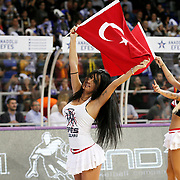 Anadolu Efes's show girls during their Turkish Airlines Euroleague Basketball Group A Round 5 match Anadolu Efes between Real Madrid at Abdi ipekci arena in Istanbul, Turkey, Thursday, November 14, 2014. Photo by Aykut AKICI/TURKPIX