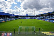 General view of play, empty stands with no fans during the EFL Sky Bet Championship match between Queens Park Rangers and Barnsley at the Kiyan Prince Foundation Stadium, London, England on 20 June 2020.