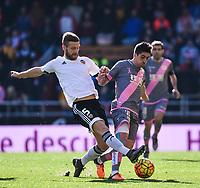 Valencia CF's  Shkodran Mustafi and Rayo Vallecano's Pablo Hernandez during La Liga match. January 17, 2016. (ALTERPHOTOS/Javier Comos)