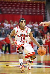 18 November 2007: Dom Johnson.  Illinois State Redbirds defeated the Seahawks of the University of North Carolina - Wilmington 89-73 on Doug Collins Court in Redbird Arena on the campus of Illinois State University in Normal Illinois.