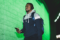 Panos Mayindombe of Bristol Flyers arrives at Plymouth Pavilions prior to kick off - Photo mandatory by-line: Ryan Hiscott/JMP - 28/12/2019 - BASKETBALL - Plymouth Pavilions - Plymouth, England - Plymouth Raiders v Bristol Flyers - British Basketball League Championship