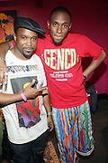 l to r: DJ Spinna and Mos Def at The Black Star Concert presented by BlackSmith and Live N Direct held at The Nokia Theater in New York City on May 30, 2009