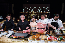 Master Chef Wolfgang Puck and his team during the Academy's Governors Ball preview for the 91st Oscars® on Friday, February 15, at the Ray Dolby Ballroom in Hollywood.