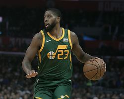 January 16, 2019 - Los Angeles, California, United States of America - Royce O'Neale #23 of the Utah Jazz with the ball during their NBA game with the Los Angeles Clippers on Wednesday January 16, 2019 at the Staples Center in Los Angeles, California. Clippers lose to Jazz, 129-109. JAVIER ROJAS/PI (Credit Image: © Prensa Internacional via ZUMA Wire)