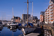 A3A8T8 Ipswich waterfront and marina Wet Dock urban redevelopment project Suffolk England. Image shot 2006. Exact date unknown.