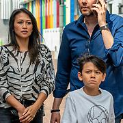 NLD/Amsterdam/20190602 - Familiepremière Huisdiergeheimen 2, Gijs Staverman en partner Cher