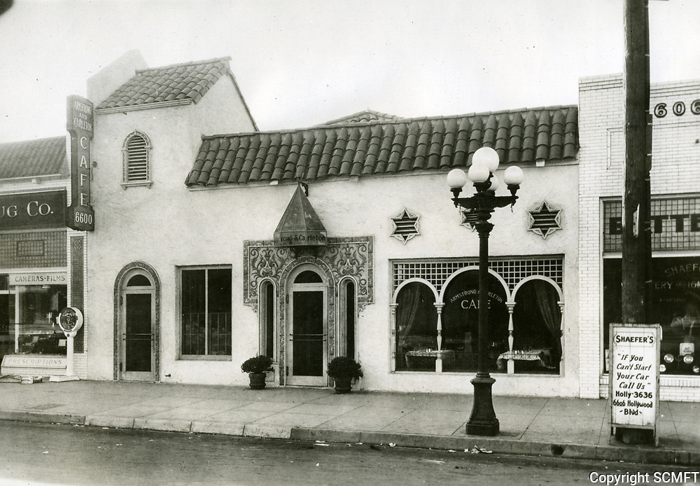1923 Armstrong Carlton Cafe on Hollywood Blvd.