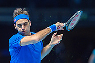 Roger Federer of Switzerland in action during the Nitto ATP World Tour Finals at the O2 Arena, London, United Kingdom on 13 November 2018.Photo by Martin Cole