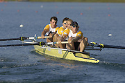2005 FISA Rowing World Cup Munich,GERMANY. 18.06.2005; GBR M4-  Bow. Steve Williams, Peter Reed, Alex Partridge and Andy Twiggs-Hodge..Photo  Peter Spurrier. .email images@intersport-images...[Mandatory Credit Peter Spurrier/ Intersport Images] Rowing Course, Olympic Regatta Rowing Course, Munich, GERMANY