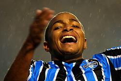 Anderson Pico comemora seu gol na partida entre as equipes do Gremio e Palmeiras realizada no Estadio Olimpico, em Porto Alegre, válida pelo Campeonato Brasileiro. Foto: Jefferson Bernardes/Preview.com
