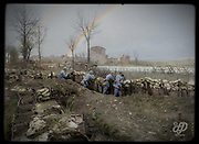 Colorized photographs soldiers from the World War One<br /> <br /> With his impressive colorized photographs of the World War One, Frédéric Duriez gives us a new look at the conflict that ravaged the world between 1914 and 1918, revealing the difficult daily life of the French soldiers. <br /> <br /> Photo Shows: French lines on the right bank of the Seille being held by the 150th Infantry Regiment, 5th Battalion. Port-sur-Seille, Meurthe-et-Moselle, March 1918<br /> ©Frédéric Duriez/Exclusivepix Media