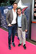 Pitch Perfect 2 - Nederlandse première in Pathe Arena met een roze loper.<br /> <br /> Op de foto:  Sipke Jan Bousema en partner Willem