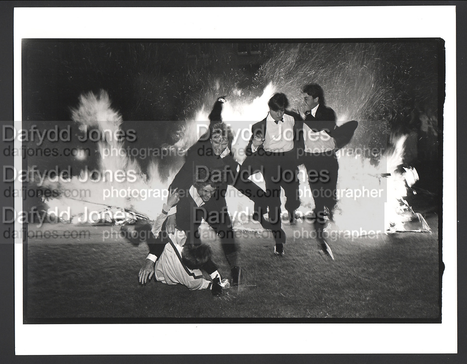 Burning boat, Oriel. Oxford, 1984. Exhibition in a Box