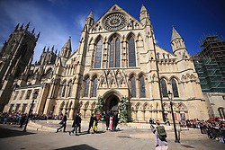 York Minster, where the wedding of singer Ellie Goulding to Caspar Jopling will take place.