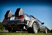 A Back to the Furure replica De Lorean used in Physics of the impossible shoot, London