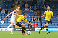 Burton Albion's Marcus Harness controls the ball. Skybet football league two match, Bury v Burton Albion at the JD Stadium, Gigg Lane in Bury, Lancs on Saturday 20th Sept 2014.<br /> pic by David Richards,  Andrew Orchard sports photography.