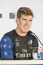 June 21, 2017 - Bermudes, USA - The America's Cup Village, Ireland Island, Bermuda, 17th June. Emirates Team New Zealand Helmsman Peter Burling (NZL) at the post race press conference after winning the first two races of the America's Cup against defender Oracle Team USA. (Credit Image: © Panoramic via ZUMA Press)