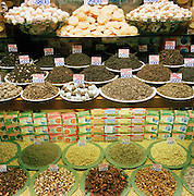 Local foods for sale in a store in Venice, Italy