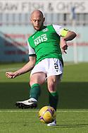 David Gray (2) of Hibernian during the Betfred Scottish League Cup match between Cove Rangers and Hibernian at Balmoral Stadium, Aberdeen, Scotland on 10 October 2020.