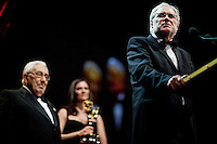 Prof. Markus Schachter was awarded The Directorate Award by Dr. Henry Kissinger at the 37th International Emmy Awards Gala in New York on Monday, November 23, 2009.  ***EXCLUSIVE***