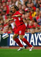 Bolo Zenden <br />Liverpool 2005/06<br />Liverpool V Total Network Soloutions (3-0) 13/07/05<br />UEFA Champions League Qualifier, 1st Round 1st Leg<br />Photo Robin Parker Fotosports International