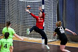 Karin Kuralt of RK Olimpija during handball match between RK Olimpija and RK Krim Mercator in Round #13 of National Youth League in Season 2020-21, on May 23, 2021 in Hala Tivoli, Ljubljana, Slovenia. Photo by Matic Klansek Velej / Sportida