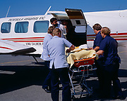 Peninsula Airways' Piper Navajo used for a medical evacuation from the bush to Anchorage International (Ted Stevens) Airport.
