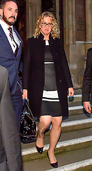 © Licensed to London News Pictures. 21/12/2016. London, UK. An emotional looking CLAIRE BLACKMAN leaves the Royal Courts of Justice in London following a bail hearing for her husband, Royal Marine Sergeant Alexander Blackman. Sgt Blackman is currently serving a life sentence after being convicted of murdering a wounded Taliban fighter in Afghanistan in 2011. Photo credit: Ben Cawthra/LNP