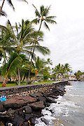 Sea wall of the Hulihe'e Palace, constructed in 1838. Kailua-Kona, Big Island, Hawaii RIGHTS MANAGED LICENSE AVAILABLE FROM www.PhotoLibrary.com