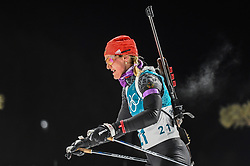 February 12, 2018 - Pyeongchang, Gangwon, South Korea - Denise Herrmann ofGermany competing at Women's 10km Pursuit, Biathlon, at olympics at Alpensia biathlon stadium, Pyeongchang, South Korea. on February 12, 2018. (Credit Image: © Ulrik Pedersen/NurPhoto via ZUMA Press)