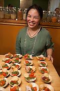 Mia-Lara Tisdale, amateur chef, with watercress, pistachio, parmesan pesto and cheesy pastry.