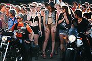 """The """"Dykes on Bikes"""" prepare to lead the annual Dyke March during a Seattle PrideFest event in Capitol Hill, June 25, 2016."""