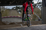 #140 (THERKELSEN Jimmi) DEN at the 2018 UCI BMX Superscross World Cup in Saint-Quentin-En-Yvelines, France.
