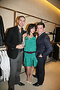 NICK BARRETT, NOOSHIN BAKHSHI AND JASON BARRETT, De Grisogono & Londino Car Rally  party. <br />