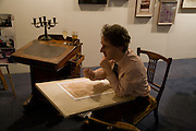 ADAM DANT, Preview evening for the London Art Fair. Business Design Centre. Islington. London. 13 January 2009.  *** Local Caption *** -DO NOT ARCHIVE -Copyright Photograph by Dafydd Jones. 248 Clapham Rd. London SW9 0PZ. Tel 0207 820 0771. www.dafjones.com<br /> ADAM DANT, Preview evening for the London Art Fair. Business Design Centre. Islington. London. 13 January 2009.