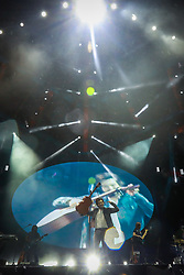 Luan Santana durante a 25ª edição do Planeta Atlântida. O maior festival de música do Sul do Brasil ocorre nos dias 31 Janeiro e 01 de fevereiro, na SABA, praia de Atlântida, no Litoral Norte do Rio Grande do Sul. FOTO: <br /> Diego Vara/ Agência Preview