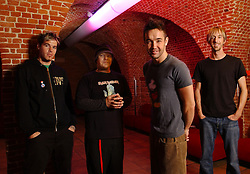 BRUSSELS, BELGIUM - From left to right Dan Estrin , guitar - Markku Lappalainen , bass - Doug Robb , vocals - Chris Hesse -, drums - HOOBASTANK - rock and roll band from California, USA. (PHOTO © JOCK FISTICK)..
