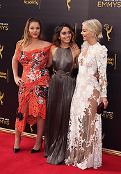 Kether Donohue, Vanessa Hudgens, Julianne Hough attending The 2016 Creative Arts Emmy Awards at the Microsoft Theatre in Los Angeles, USA.