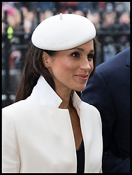 March 12, 2018 - London, London, United Kingdom - Image licensed to i-Images Picture Agency. 12/03/2018. London, United Kingdom.  Meghan Markle  arriving at the  Commonwealth Day Service at Westminster Abbey in London. (Credit Image: © Stephen Lock/i-Images via ZUMA Press)
