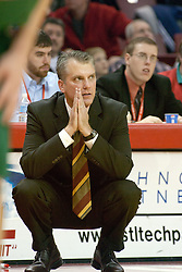 03 December 2005:  Tod Kowalczyk,University of Wisconsin's coach pleads with the highest authority.