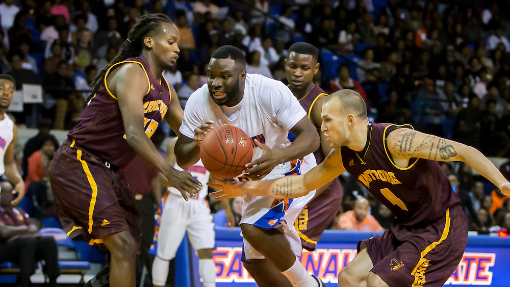 Savannah State University hosts The Battle Of The Marsh in a exhibition basketball game against Armstrong State University, Tuesday, Nov. 3, 2015, in Savannah, Ga.  The  Tigers defeated Armstrong. (SSU Photo/Stephen B. Morton)